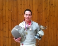 Chris Jupp and Hants FU Sabre trophy