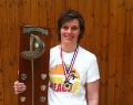 Lucy Wright and Hants FU women's sabre trophy